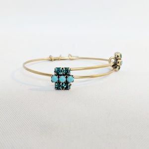Alex and Ani Jewelry - Alex andAni Carnival Sparkler Teal Bangle Bracelet